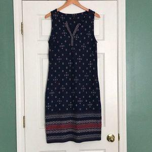 Cotton Talbots Diamond Tribal Print Dress